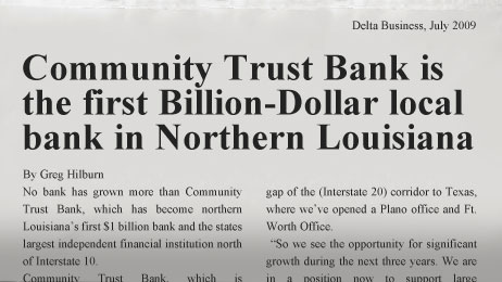Community Trust Bank becomes a billion dollar bank